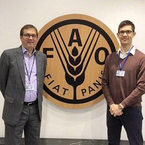 Olli Kalha ja Teemu Viinikainen FAOn pääkonttorissa Roomassa.